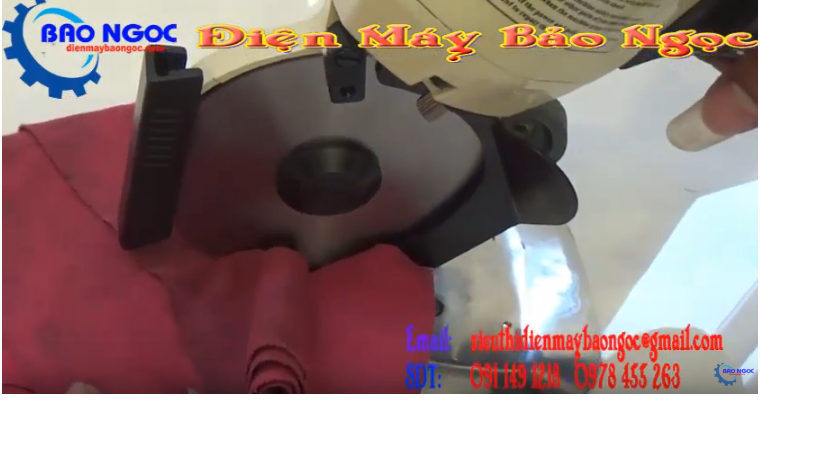 Cắt thử Máy cắt vải cầm tay Million 100 (Đài Loan)