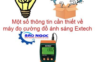 Một số thông tin cần thiết về máy đo cường độ ánh sáng extech