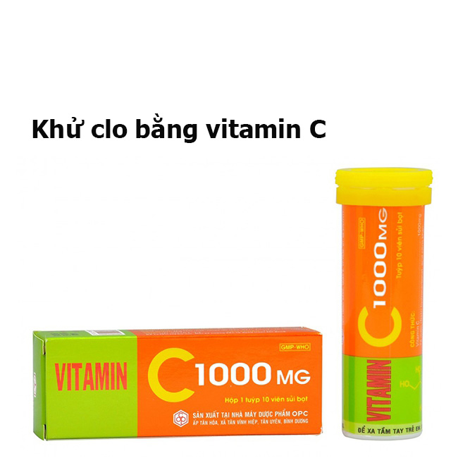 Khử clo bằng vitamin C