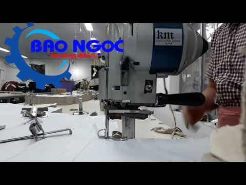 Hình ảnh máy cắt vải đứng KM KSU-103 8 inch (550W) hoạt động
