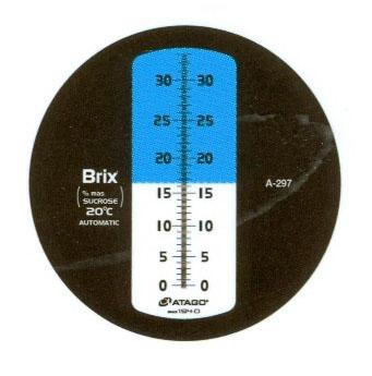 Kết quả sau khi đo độ độ brix của cam