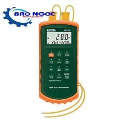 Máy đo nhiệt độ tiếp xúc 2 kênh có cảnh báo âm thanh Extech - 421502