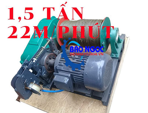 Tời kéo mặt đất KENBO JK1.5 - 1,5 tấn 22m/phút