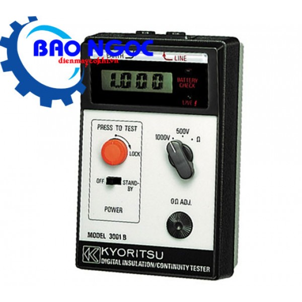 Đồng hồ đo điện trở cách điện KYORITSU 3001B