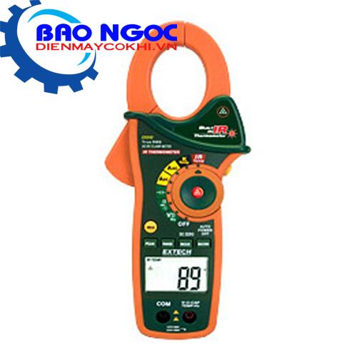 Ampe Kìm Với Nhiệt Kế Hồng Ngoại Extech-EX840